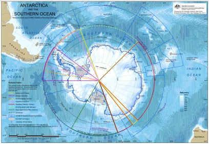 Antartica Territory Claims Map