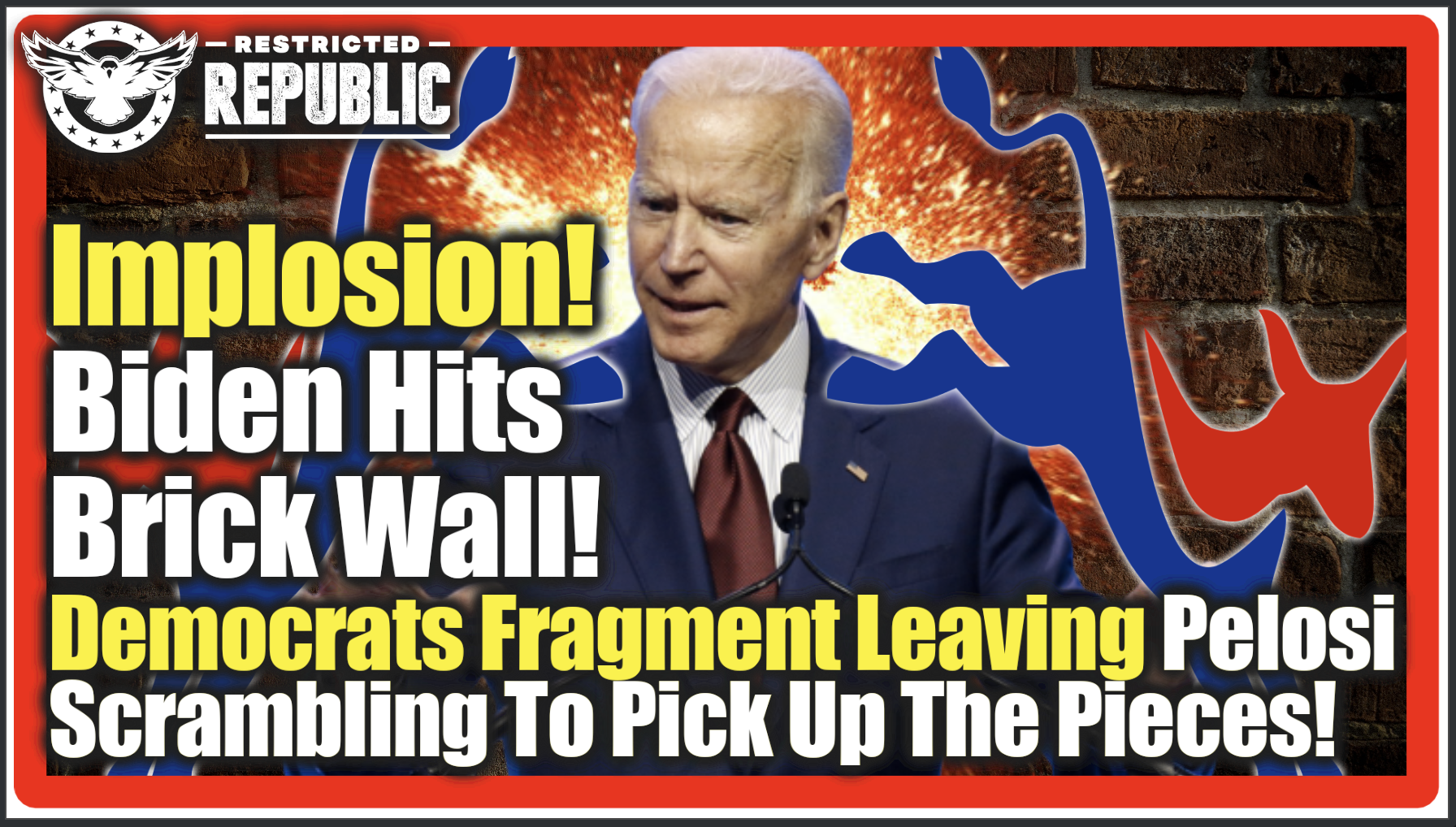 Implosion! Biden Hits Brick Wall – Overnight Democrats Explode Into Internal War Due To Shocking Turn Of Events!